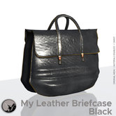 *PC* My leather briefcase Black