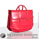 *PC* My leather briefcase Red