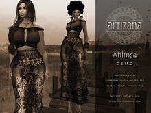 Artizana - Ahimsa Collection [Demo] - Fitted Mesh Two-Piece Gown - Fatpack HUD