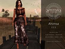 Artizana - Ahimsa III - Fitted Mesh Two-Piece Gown - Brown