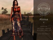 Artizana - Ahimsa V - Fitted Mesh Two-Piece Gown - Orange