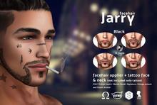 /Mr.Rennie/ facehair Jarry + tattoo (Black) Catwa Bento Signature Omega system