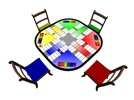 Cheesy - Pachisi Parcheesi & Ludo type board game table from Brock Games