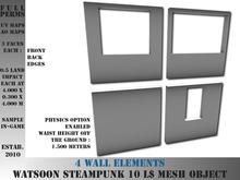 Wall elements - 0.5 LI each - 4 FULL PERMS Meshes