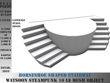 Horseshoe shaped stairway - 6 LI - FULL PERMS Mesh