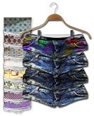 Graffitiwear Distressed Tiny Jean Shorts
