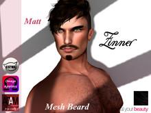 >Zinner< Matt Mesh Mustache (Black)