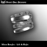 Night Owl Designs - Silver Bangles