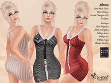 ST :: Monie Dress (Maitreya, Slink Physique, Hourglass, Belleza Venus, Isis, Freya & Classic) @ 10 Textures HUD