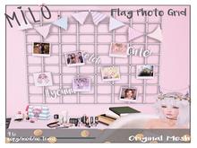 Milo. Photo Flag Grid - Pink