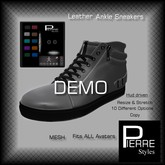 Leather Ankle Sneakers Multi with HUD :DEMO