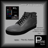 Pierre-S Leather Ankle Sneakers Multi with HUD