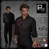 Pierre Styles Dress Shirt with Cuffs Outfit-DEMO