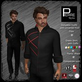 Pierre Styles Dress Shirt with Cuffs Outfit-multi