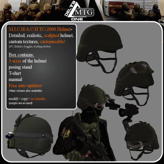 >>D1 & MTG<< OLIVE M.I.C.H. / A.C.H. Helmet / kevlar / tactical / army