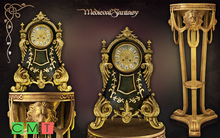 [MF] Mesh beautiful clock and antique table with lions (boxed)