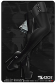 Razor/// Halo Thigh Boots - Black
