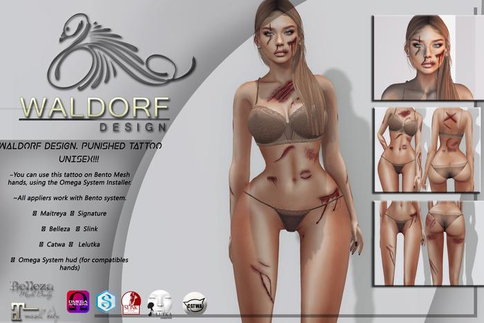Waldorf Design. Punished Tattoo [FATPACK] -BENTO-
