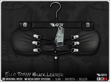 Razor/// Ello Top - Black Leather