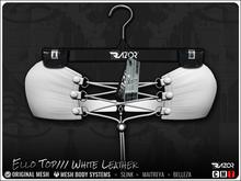 Razor/// Ello Top - White Leather