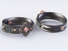 ::OESSO:: Unisex Leather bracelet