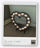 . BLUSH . Metal Heart With Lights