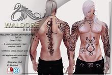 Waldorf Design. Broken Bones Tattoo