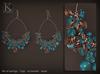 (Kunglers) Tamara earrings - Teal