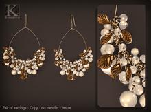(Kunglers) Tamara earrings - Pearl