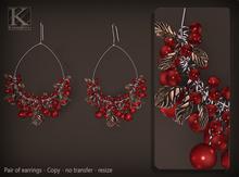 (Kunglers) Tamara earrings - Cardinal