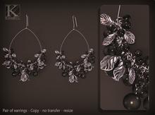 (Kunglers) Tamara earrings - Black