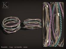 (Kunglers) Sharon bracelets - Lavender