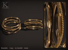 (Kunglers) Sharon bracelets - Choco