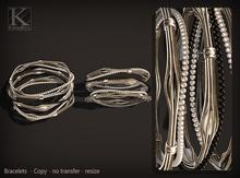 (Kunglers) Sharon bracelets - B&W