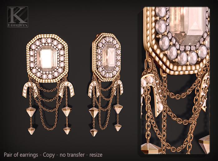 (Kunglers) Rita earrings - Pearl