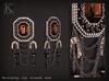(Kunglers) Rita earrings - Obsidian
