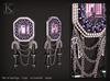 (Kunglers) Rita earrings - Amethyst
