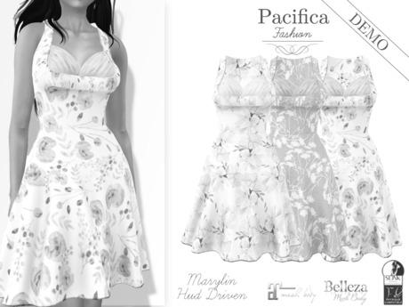 Pacifica Fashion - DEMO - Marylin Dress with HUD (Belleza, Maitreya, Slink)