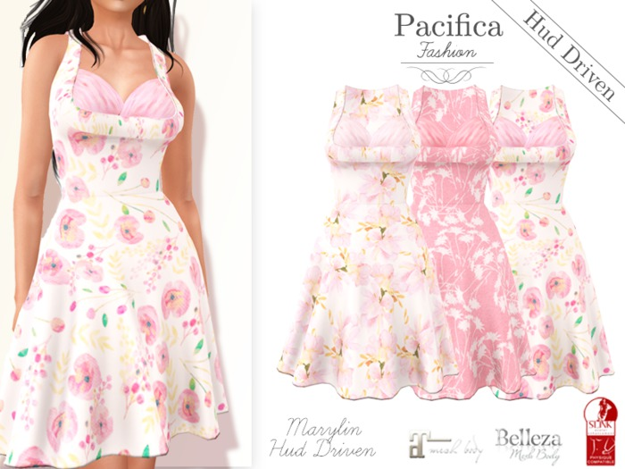 Pacifica Fashion - Marylin Dress with HUD (Belleza, Maitreya, Slink)
