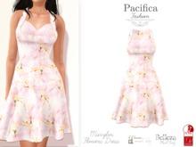 Pacifica Fashion - Marylin Flowers Dress (Belleza, Maitreya, Slink)