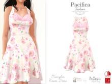 Pacifica Fashion - Marylin Roses Dress (Belleza, Maitreya, Slink)