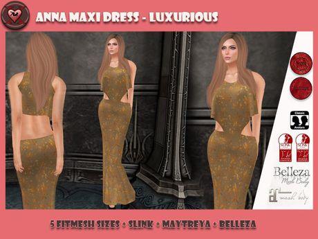 .:: X ::. Anna Maxi Dress - Luxurious (5 Fitmesh Sizes, B, M, S