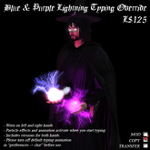 Blue & Purple Lightning Typing Override