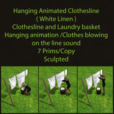 Hanging Animated Clothesline ( White Linen )