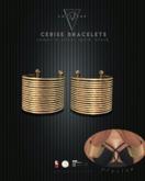 Converge - Cerise Bracelet/Cuff - Gold/Silver/Black/Copper