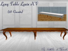 """CdT"" Table Louis XV long (18 guests)"