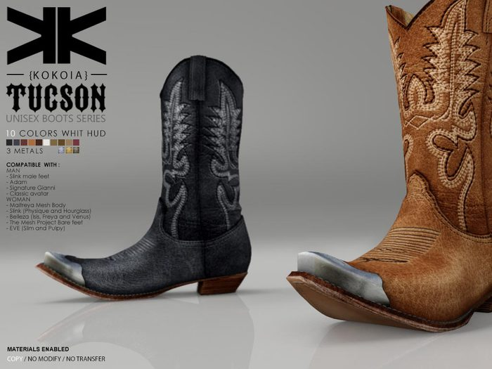 Tucson :: Unisex Boots :: 10 Colors :: {kokoia}