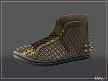 A N E Shoes - Studded Sneakers GOLD