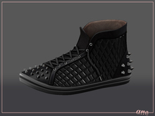 A N E Shoes - Studded Sneakers JETBLACK