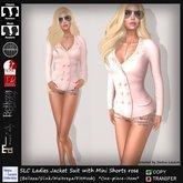 SLC Ladies Jacket Suit with Mini Shorts rose